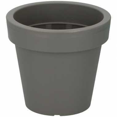 Kunststof bloempot grijs 16 cm