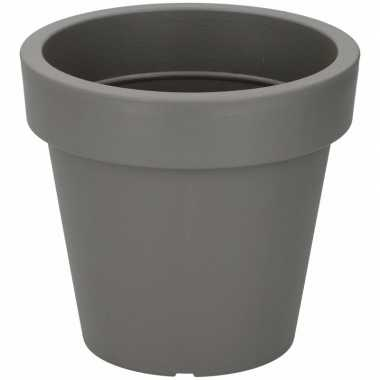 Kunststof bloempot grijs 24 cm